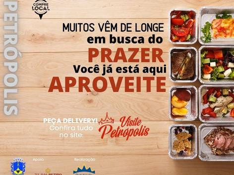 """Restaurantes iniciam campanha """"Peça delivery"""" divulgando novo formato de vendas em Petrópolis"""