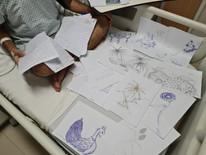 Covid-19: Aderecista da Grande Rio em 2017 tem alta do hospital em Maricá com incentivo da arte