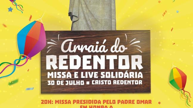 Arraiá Solidário no Cristo Redentor_ É amanhã!