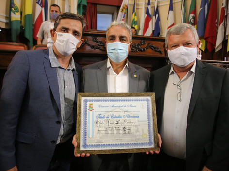 Presidente da Alerj recebe título de Cidadão Niteroiense