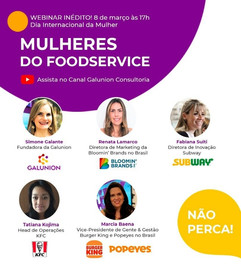 Outback Steakhouse, Subway, Burguer King e KFC discutem liderança feminina no Food Service
