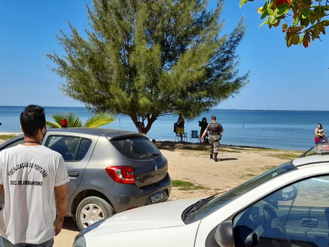 Praias e comércios são fiscalizados em São Pedro da Aldeia