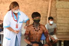 Maricá vacina todo grupo prioritário de indígenas da aldeia Mata Verde Bonita