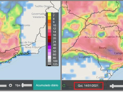 Sudeste tem chuva e risco de deslizamentos nos próximos dias