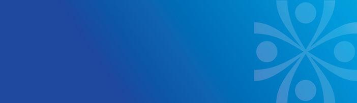 Human Interactions Banner blue gradient