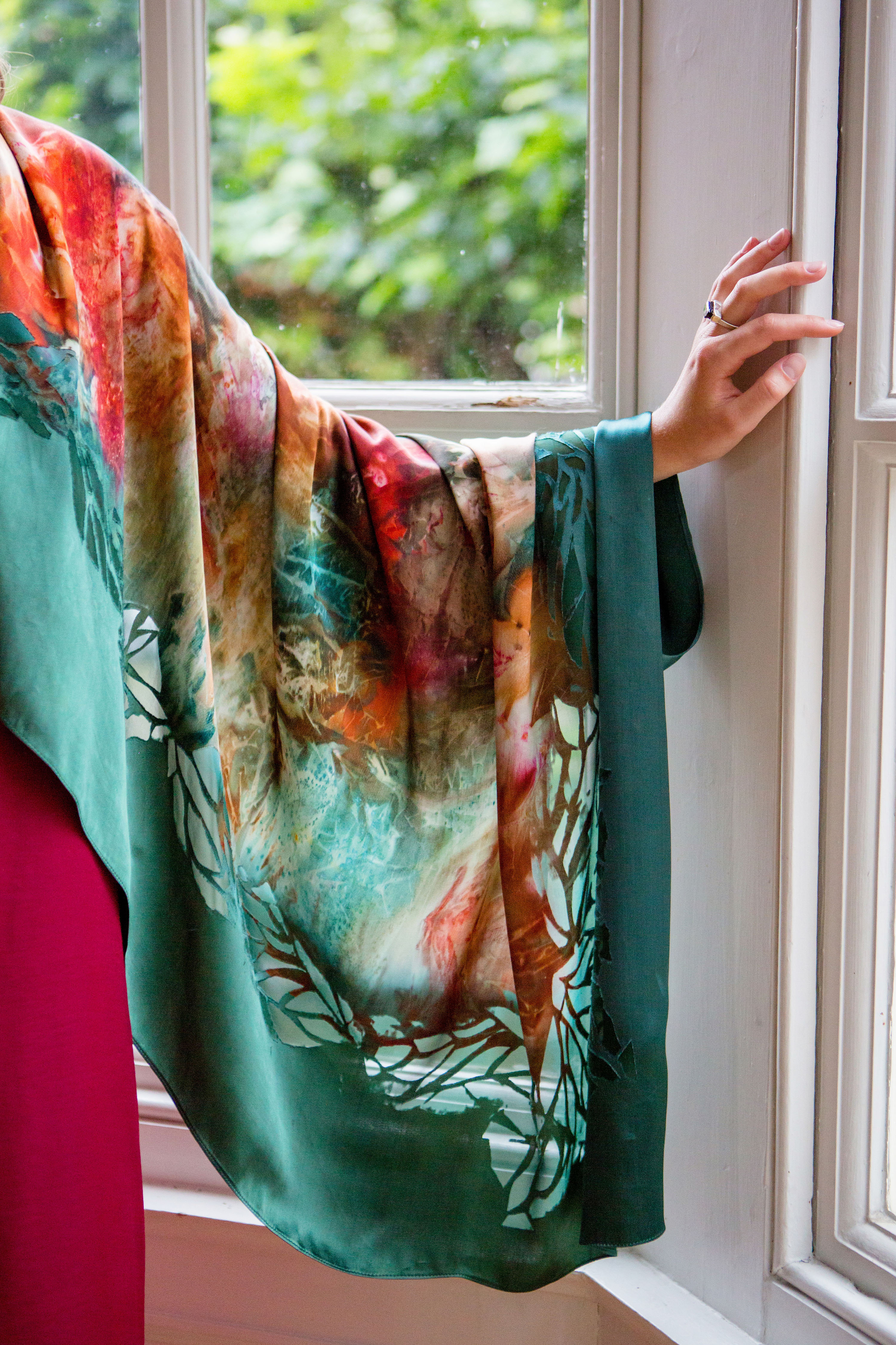 Hand Printed Silk Scarf