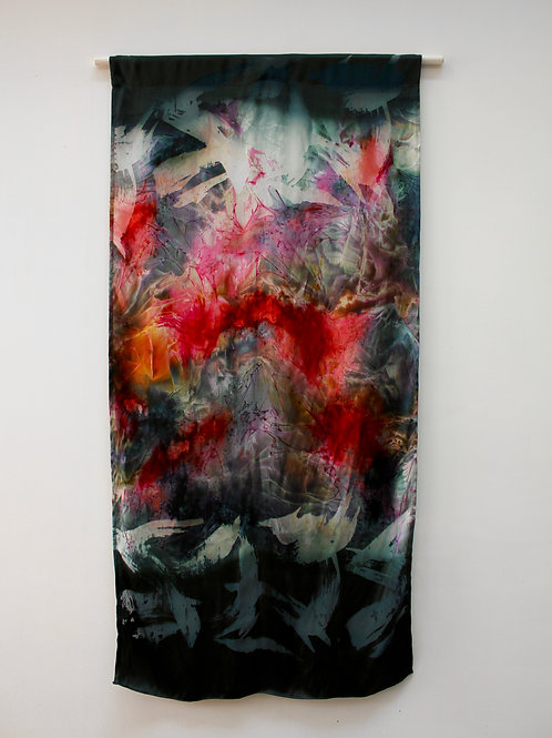 Slate & Intense Red Wall Hanging