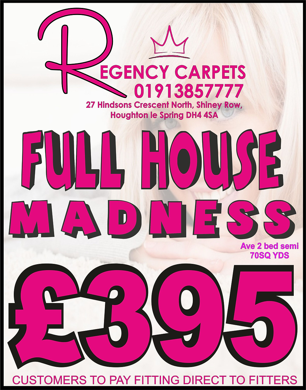 CALL 0191385777 FOR MORE FULL HOUSE DEALS