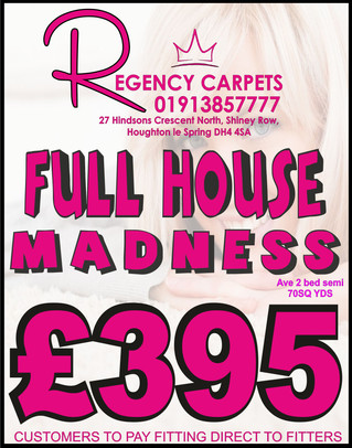 REGENCY CARPETS - FULL HOUSE MADNESS