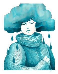 """""""Serene Blue Rain"""""""