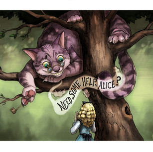 """""""Alice and the Cheshire Cat"""""""