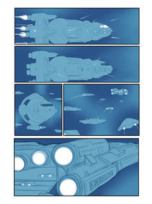 "Layout sketch for page eleven of ""THE GALACTICATS"""