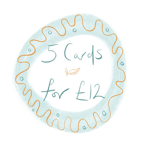 Buy 5 cards for £12!