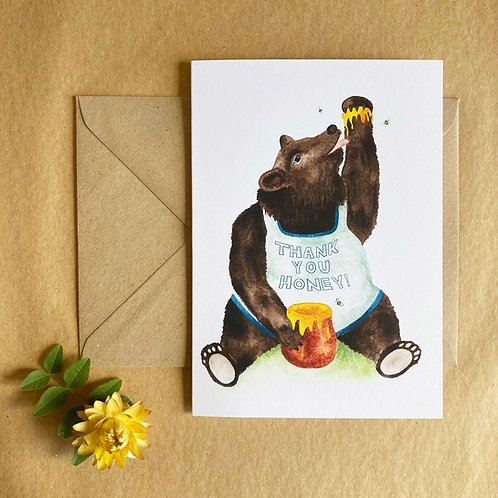 Thank You Honey! - Bear Card