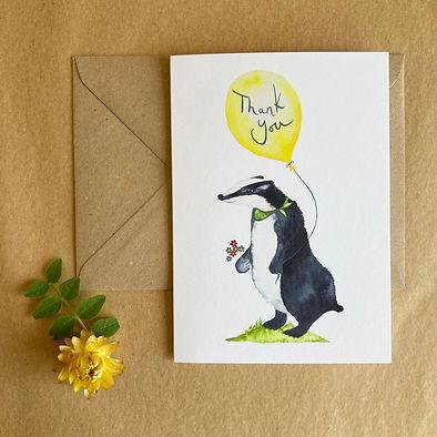 badger thank you card