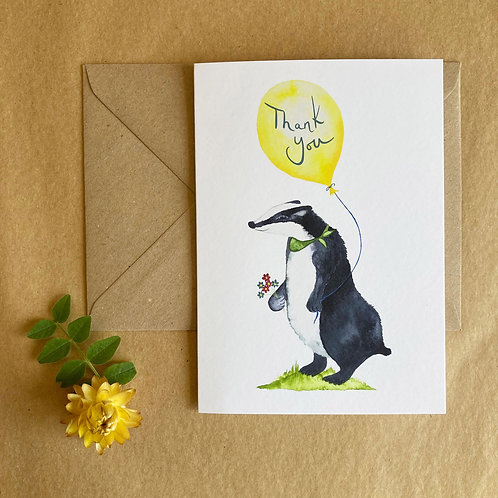 Thank You - Badger card