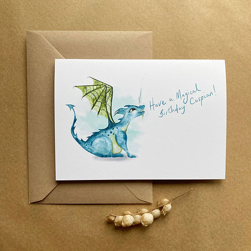 Personalised Dragon Card