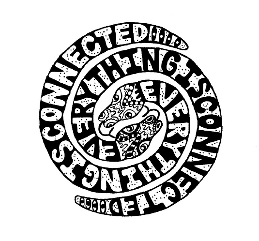 Everything Is Connected Logo Sticker