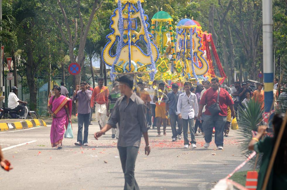 Procesja podczas święta Thaipusam