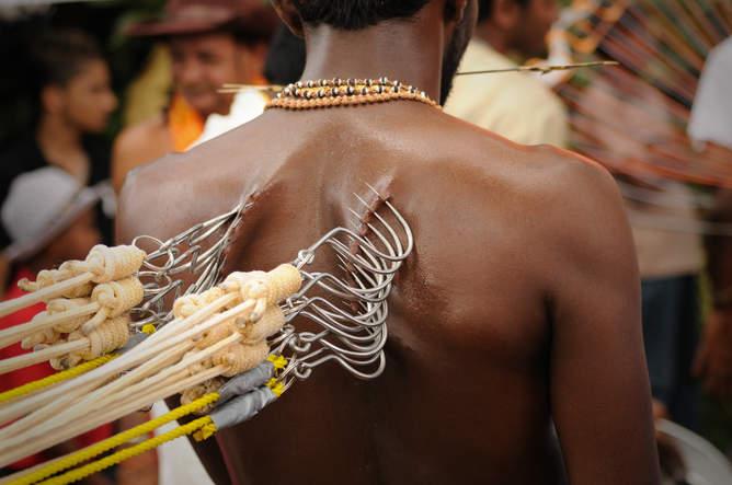 Bolesna procesja święta Thaipusam, Penang