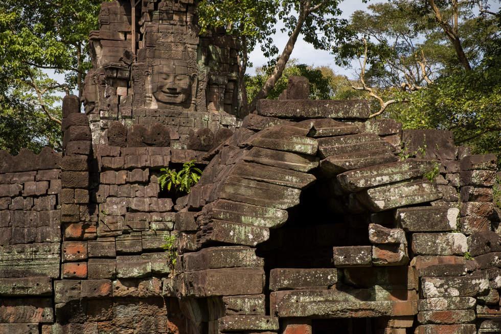 Świątynia Preah Stung, kompleks Preah Khan Kampong Svay, Kambodża. Fotografia Maciej Rutkowski.