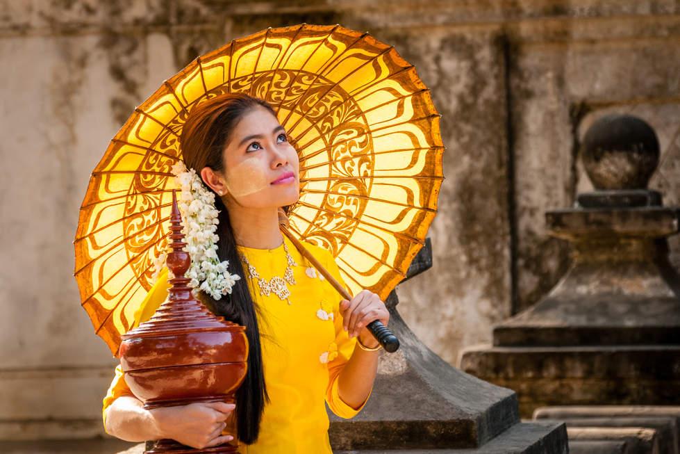 Birmańska dziewczyna, Mandalay, Myanmar