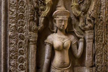 Apsara w świątyni Preah Khan, Kambodża