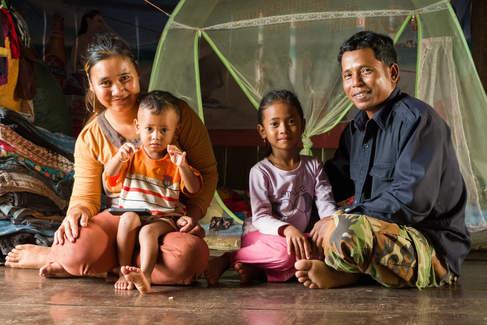 Khmerska rodzina z Kampong Thom