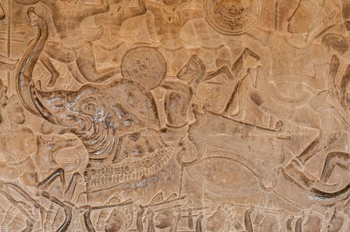 Relief Bitwa Pod Kurukszetrą, Angkor Wat