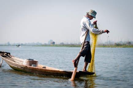 Rybak z Inle, Myanmar (Birma)