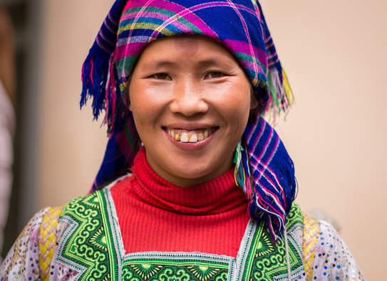 Kobieta Hmong, Sapa, Wietnam