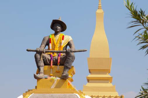 Posąg Króla Laosu