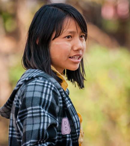 Młoda Birmanka, jezioro Inle