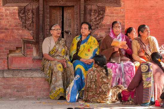 Nepalskie Kobiety na Placu Durbar