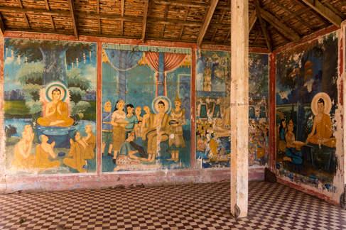 Freski w świątyni Wat Nokor