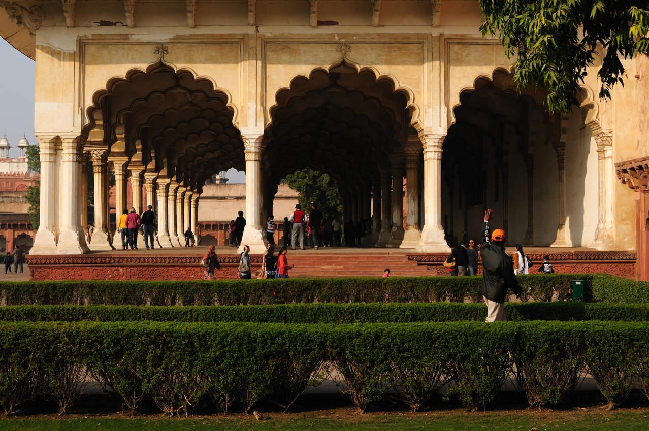 Pawilony na terenie czerwonego fortu, Agra