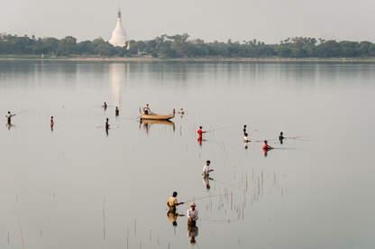 Jezioro Taungthaman, Amarapura