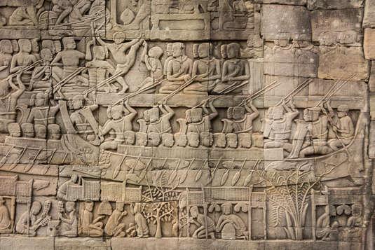 Relief w świątyni Bayon