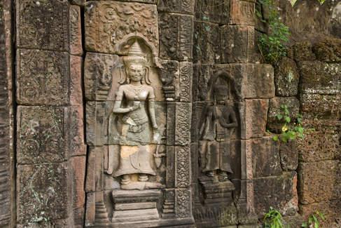 Prasat Damrei, kompleks Preah Khan Kampong Svay, Kambodża. Fotografia Maciej Rutkowski.