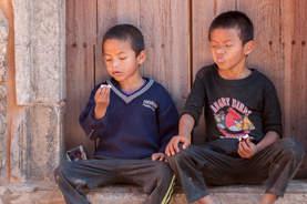 Młodzi nepalscy przyjaciele, Patan