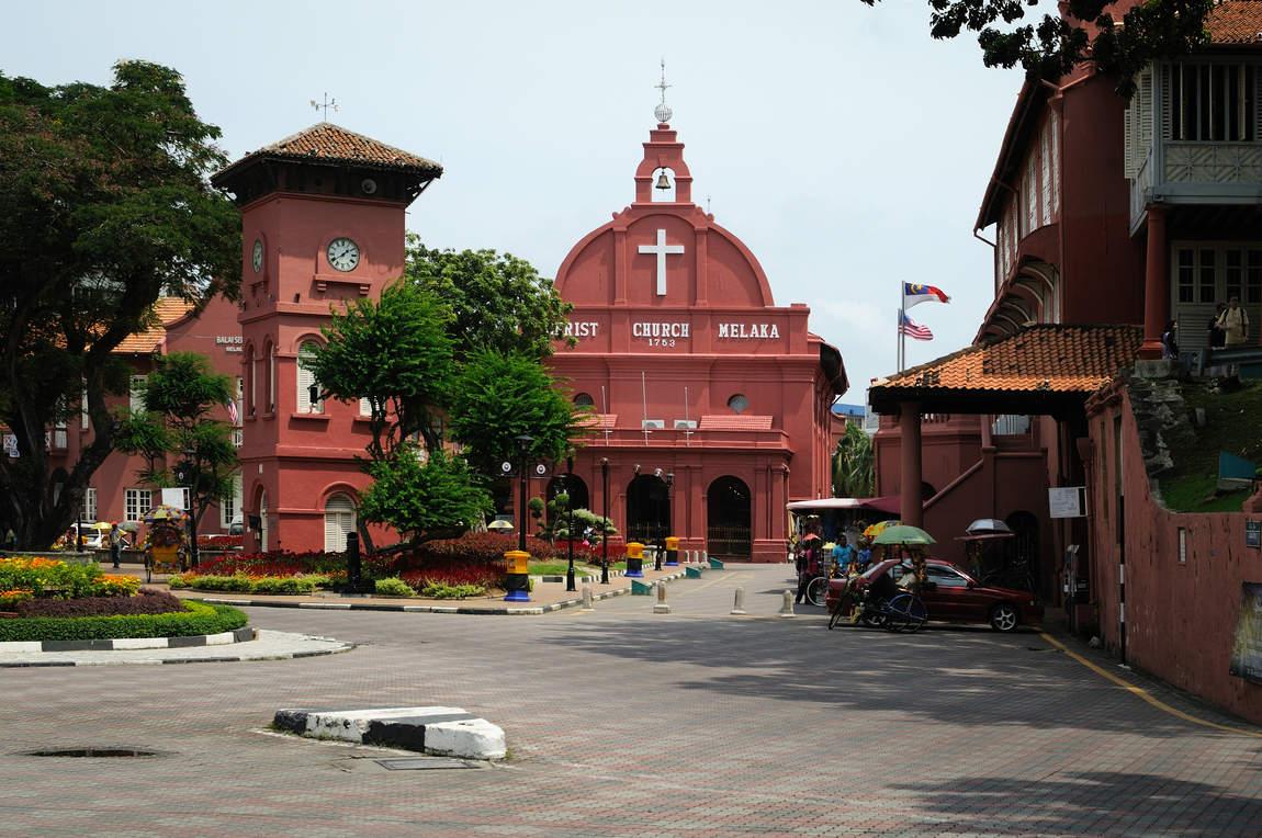 stary kolonialny kościół, Melaka