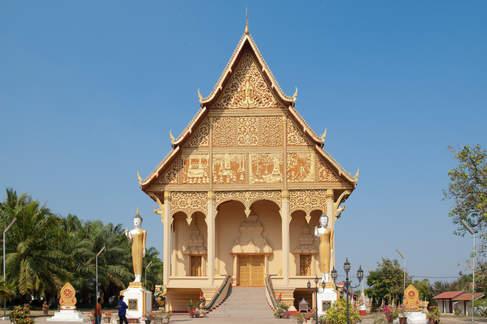 Świątynia buddyjska w Wientian