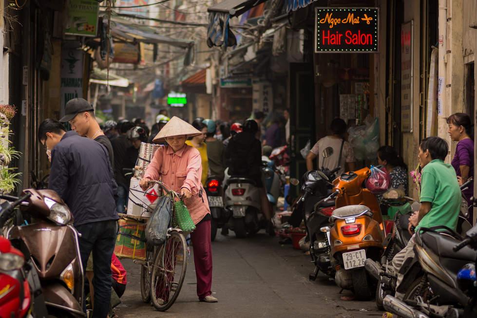 Ulice Old Quarter, Hanoi