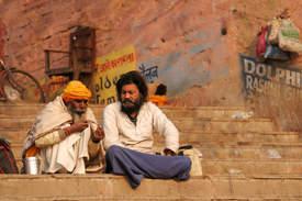 Dwóch Sadhu w Waranasi