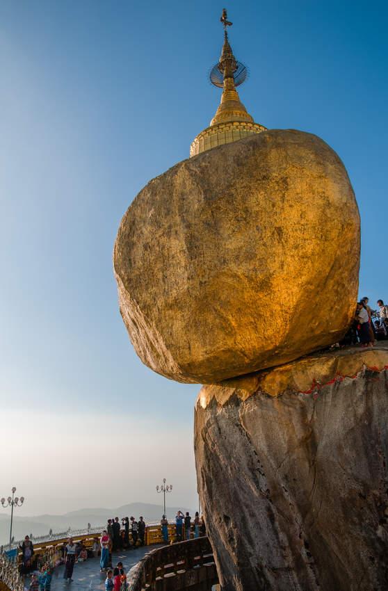 Złota Skała w świątyni Kyaiktiyo