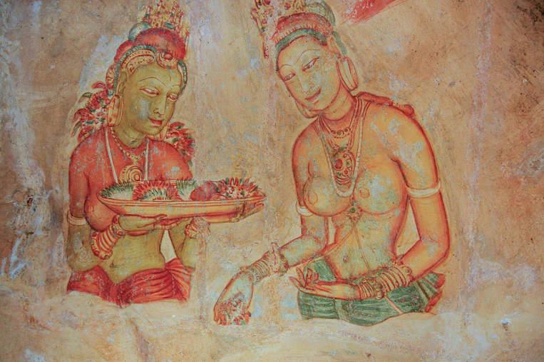 Malowidła naskalne, Sigiriya, Sri Lanka