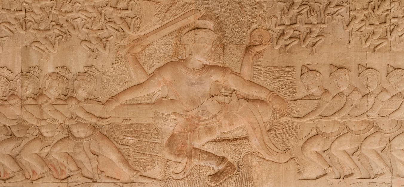 Wisznu, Relief Ubijanie Morza Mleka, Angkor Wat