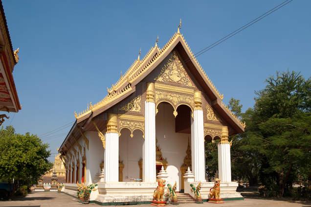 Buddyjska świątynia, Wientiane, Laos