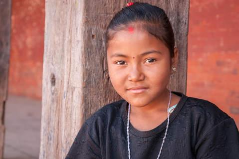Młoda Nepalka, Bhaktapur
