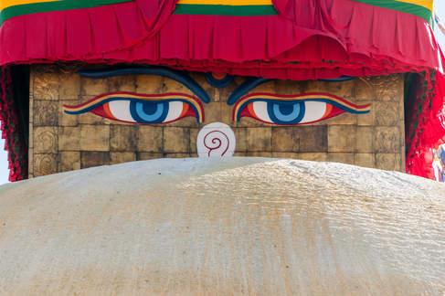 Oczy Stupy Boudhanath, Kathmandu